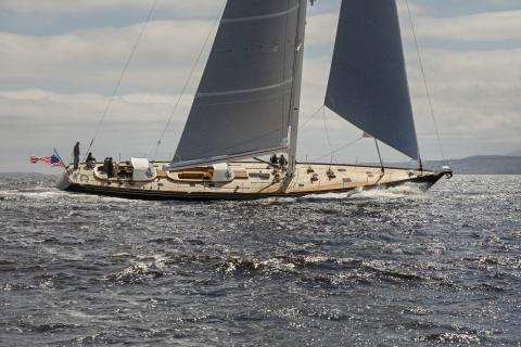 Brooklin Boat Yard Launches Custom 91-foot Sloop