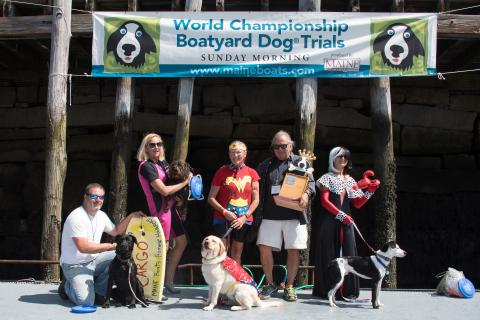 Five dogs will compete for the title of World Championship Boatyard Dog Trials