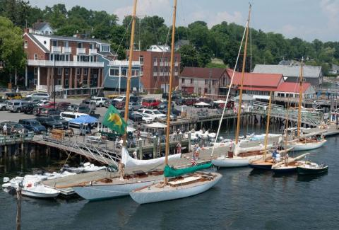 Silent Maid, a 2009 catboat, takes top honors in Castine to Camden race