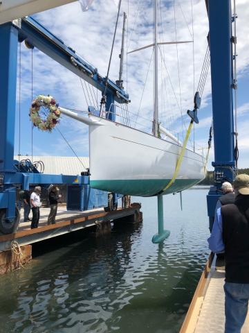 Brooklin Boat Yard Launches Custom 55-Foot Sloop