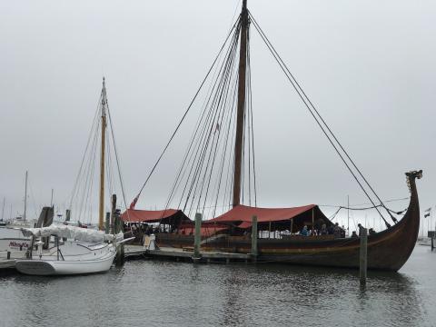 Viking longship arrives in Rockland