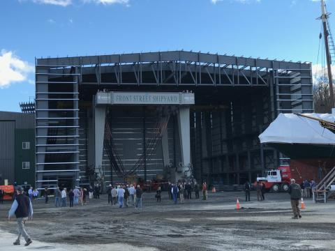 Front Street's new 22,000 square foot building with room for a massive boat lift