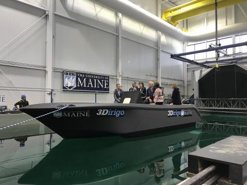 UMaine launches world's largest 3D printed boat