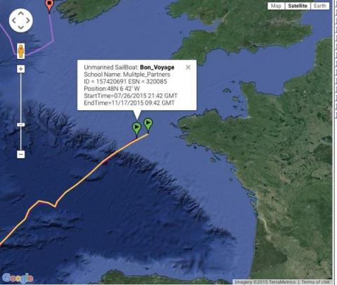 Bon Voyage nears French coast