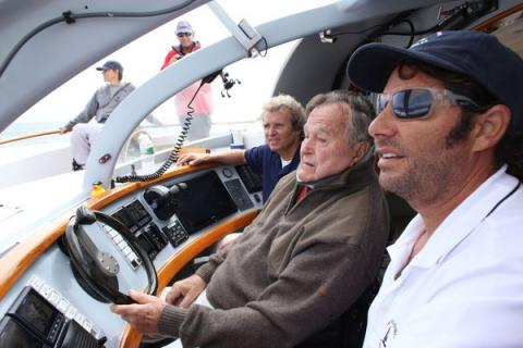 Former President sails on special catamaran