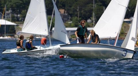 Junior Olympic sailing in Camden