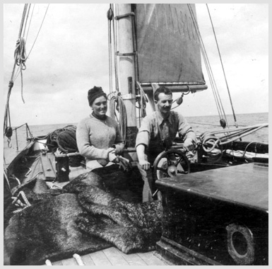 Erskine Childers at sea