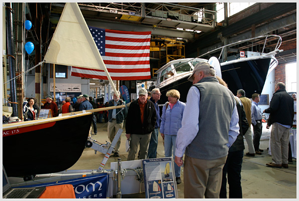 Crowd at the Maine Boatbuilder Show