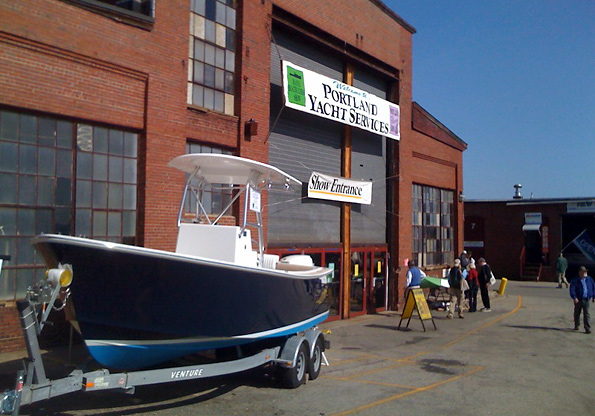 KPYY Boat at the Show Entrance
